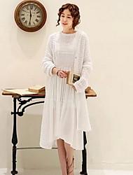 Women's Casual Sleeve Knee-length Dress (Chiffon)