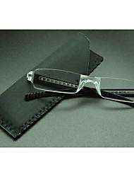 [Free Lenses] Rectangle Rimless Lightweight Reading Eyeglasses