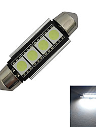 JIAWEN® Festoon 42mm 1.5W 4x5050SMD 80-90LM 6000-6500K Cool White Light LED Car Light (DC 12V)