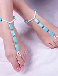 Fashion Temperament Square Fiber Anklets
