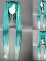 48inch длинные Vocaloid-Мику голубые смешанные аниме хвостики парики для косплея