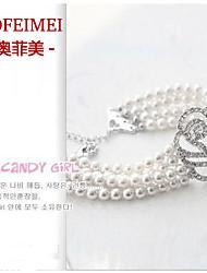 Korea trinkets valued rose four pearl bracelet