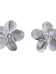 KIKI 925 silver Korean fashion all-match Alice Flower Earrings