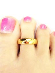 Mujer Zapato de anilla Chapado en Oro Dorado Joyas,1pc