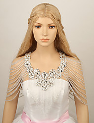 Ladies' Rhinestone Lace Crystal Shoulder Chains