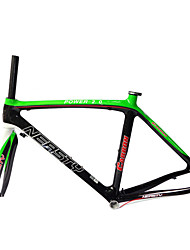 NEASTY Brand Light Green and White Color Painted Road Frame Full Carbon Bike Frame 700C Glossy 54/56CM