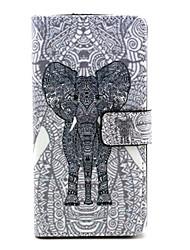 слон шаблон PU кожаный чехол с магнитной оснастки и слотом для карт WIKO радуги