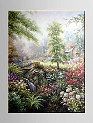 Ölgemälde pastorale Landschaft Dekoration abstraktes handgemalte Leinwand mit gestrecktem umrahmt s / m / x / xl