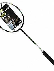 Men/Unisex/Women/Kids Badminton Rackets Low Windage/High Elasticity/Durable White 1 Piece Carbon Fiber
