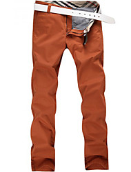 U-Shark New Hot Men's  Business Casual  &Fashion Cotton Thin Pants/Tousers Orange Red Color