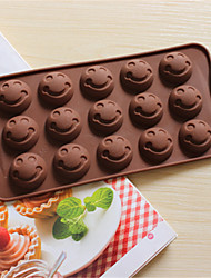 Bakeware Silicone Smile Face Shaped Baking Molds for Chocolate