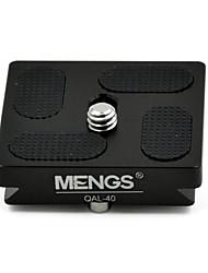 """mengs® qal-40 prato de liberação rápida com 1/4 """"câmera parafuso terno de alumínio sólido para t3 / T5 / tt / fph61g etc bola de cabeça"""