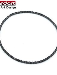 IP Black 316L Stainless Steel Fine Thread Bangle for Unisex