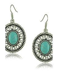 Vintage Jewelry Tibetan Silver Turquoise Earring Nice Gift for Women
