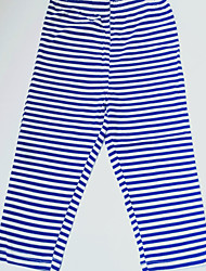 Boy's 100% cotton  Blue and white stripes Cotton single jersey sweatpants