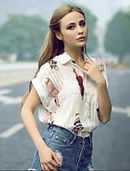 Women's Shirt Collar Tops & Blouses , Chiffon Casual Short Sleeve JMDZ