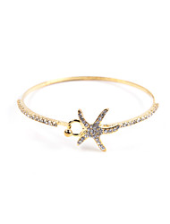 Fashion Women Stone Set Star Bangle