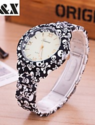 Women's Fashion Diamond Skull Print Quartz Analog Silicone Wrist Watch(Assorted Colors) Cool Watches Unique Watches