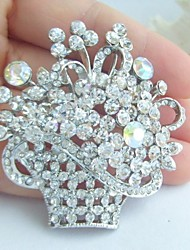 Wedding Accessories Silver-tone Clear Rhinestone Crystal Bridal Brooch Wedding Deco Bridal Bouquet Bridal Jewelry