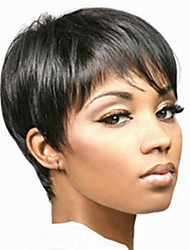Europe And The United States  Sell Like Hot  Cakes Style Personality Black Short Straight Hair Wig