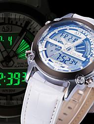 NEW Arrive Mens Sport Wrist Watch Quartz LCD Digtal Dual Time Zone Chronograph Alarm Waterproof Calendar Army Cool Watch Unique Watch