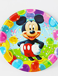 Kids Birthday Party Decorations Mickey Mouse  Paper Plates 7'' Party Supplies Plates Event Party Supplies 12pcs/lot
