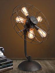 Loft American Vintage Fashion Personality Brief Fan Table Lamp