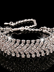 The Jimei Women's Silver Jewelry Crystal Bracelet