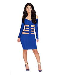 Women's Bandage Sexy Long Sleeve Mini Dress