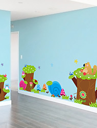 adesivos de parede adesivos de parede, bonito colorido pvc removíveis dos desenhos animados de animais de parede adesivos de coelho.