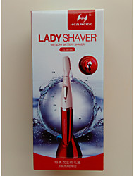 Electric Lady Shaver Wet&Dry Battery Shaver 2 Changeable Kinfe Top