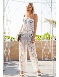 Women's American Apparel Strapless Lace Fashion Long Jumpsuit