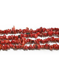 "Beadia Dyed Color Red Coral Stone Beads 5-8mm Irregular Shape DIY Loose Beads Fit Necklace Bracelet Jewelry 34""/Str"