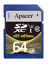 Apacer Memory Card SDHC 64GB UHS-I U3 Class10 R95/W85