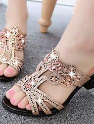 Chinelos ( Borracha , Preto/Azul ) Sapatos de Senhora - Salto Massudo - 3-6cm