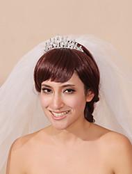 Wedding Veil Three-tier Headpieces with Veil Pencil Edge