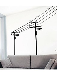 Happy Birds Singing On Wire Wall Decal Zooyoo7045 Decorative Adesivo De Parede Removable Pvc Wall Sticker