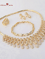 WesternRain Gold Plated Fashion Charm Rhinestone Jewelry Women Gift Party wedding Jewelry Sets