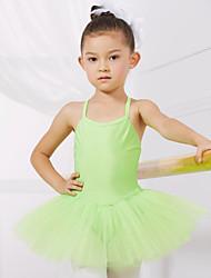 バレエ レオタード 子供用 訓練 演出 スパンデックス チュール 1個 ノースリーブ プリンセス ドレス
