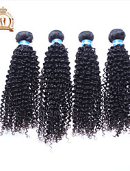 "4Pcs Lot 12-26"" Unprocessed Eurasian Virgin Hair Kinky Curly Wavy Curly Natural Black Remy Human Hair Weave/Bundles"