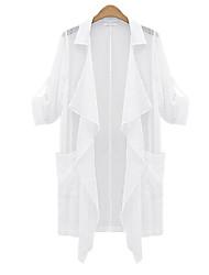 Overhemdkraag - Microvezel Vrouwen Halflange mouw