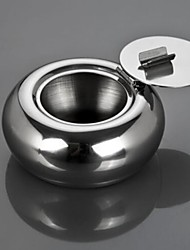 Polished Portable Stainless Steel Cigarette Ashtray Ash Container