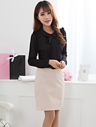 Women's Work Inelastic Long Sleeve Regular Blouse (Chiffon)