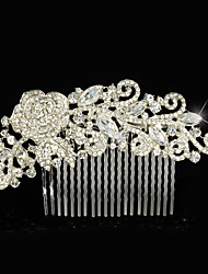 Vintage Wedding Party Bridal Bridesmaid Diamond/Rhinestone/Crystal Rose Flower Bridal Hair Comb For Women
