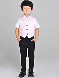 Pink Serge Ring Bearer Suit - 4 Pieces