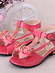 Girls' Shoes Outdoor/Casual Peep Toe/Comfort Sandals Pink/Coral