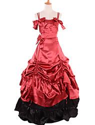 bonitos vestidos de fiesta de color rojo lolita&mangas de raso azul trajes gothic lolita