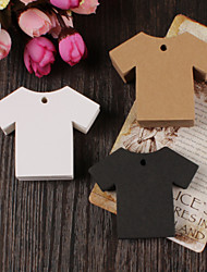 10pcs Clothing Kraft Paper Hang Tag Lable Bookmark for Gift Bakery Favors Price Cards Wedding Party (More Colors)