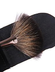 lashining Fächerpinsel Make-up Gesichtsbürste Geschenk eine schwarze flannelette
