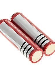 18650 800mAh 3.7V recarregável Li-ion (2 peças)
